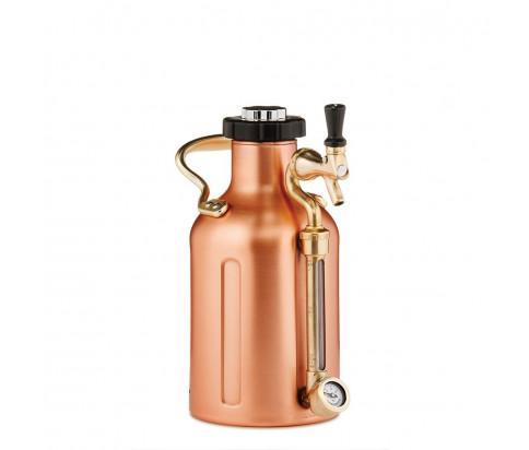 uKeg 64 Pressurized Growler for Craft Beer - Copper Plated