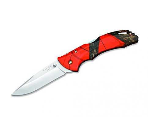Buck Knives 0285 Bantam Knife, Mossy Oak Blaze Orange Camo