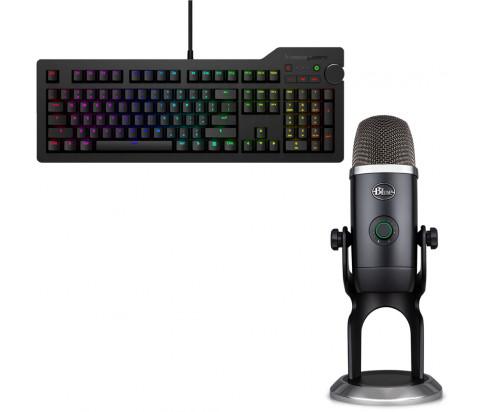 Das Keyboard Bundle with 4Q Mechanical Keyboard: MX-RGB-WIN-LINUX + Blue Mic Yeti x