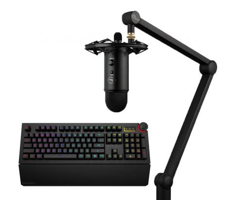 Das Keyboard Bundle with 5Q Mechanical Keyboard: RGB-WIN-MAC-LINUX + Blue Mic Yeticaster