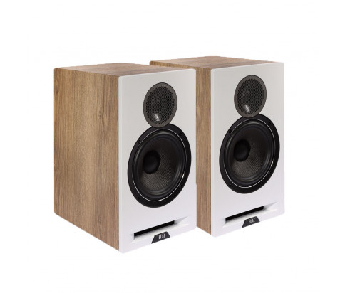 Elac Debut Reference 6.2 Bookshelf Speaker Pair - White/Oak