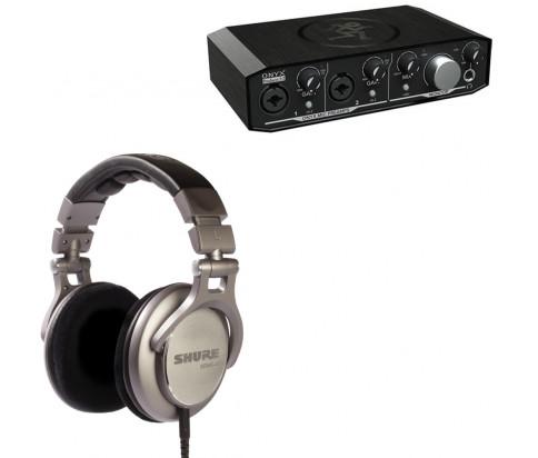 Shure + Mackie Producer Bundle - SRH940 Professional Reference Headphones  + Onyx Producer 2•2