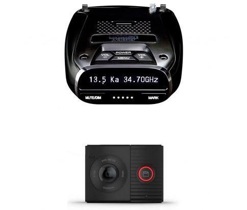 Uniden DFR7 Super Long Range Wide Band Laser/Radar Detector + Garmin Dash Cam Tandem