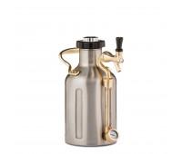 uKeg 64 Pressurized Growler for Craft Beer - Stainless Steel