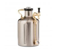 uKeg 128 Pressurized Growler for Craft Beer - Stainless Steel