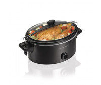 Hamilton Beach - Stay or Go 6qt Slow Cooker Black
