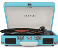 Crosley - Cruiser Deluxe Turntable - Turquoise