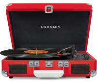 Crosley - Cruiser Deluxe Turntable - Red