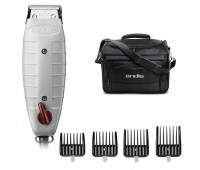 Andis Bundle With Outliner II Square Blade Trimmer + Snap-On Blade Attachment Combs 4-Comb Set (2) + Tool Tote Bag