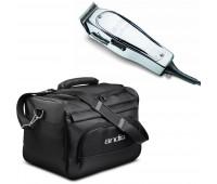 Andis Master 15-Watt Adjustable Blade Hair Clipper, Silver (01557) + Andis Tool Tote Bag