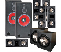 BIC America RTR-1530 7.2 Home Theater System with 5 FH6-LCR + 2 F-12