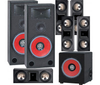 BIC America RTR-EV15 7.1 Home Theater System with 5 FH6-LCR + RTR-EV1200