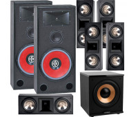 BIC America RTR-EV15 7.1 Home Theater System with 5 FH6-LCR + H-100