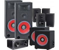 BIC America RTR-EV15 7.2 Home Theater System, DV62CLRS + 4 DV62si + 2 RTR-EV1200