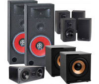 BIC America RTR-EV15 7.2 Home Theater System with DV62CLRS + 4 DV62si + 2 H-100