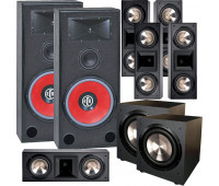 BIC America RTR-EV15 7.2 Home Theater System with 5 FH6-LCR + 2 F-12