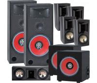 BIC America RTR-EV15 7.2 Home Theater System, FH6-LCR + 4 FH-65B + 2 RTR-EV1200