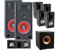 BIC America RTR-EV15 7.1 Home Theater System with FH6-LCR + 4 FH-65B + H-100