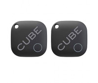 Cube Smart Tracker Waterproof Bluetooth Finder with Replacable Battery - 2 Pack