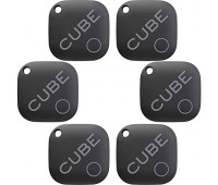 Cube Smart Tracker Waterproof Bluetooth Finder with Replacable Battery - 6 Pack