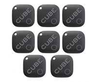 Cube Smart Tracker Waterproof Bluetooth Finder with Replacable Battery - 8 Pack