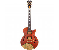 D'Angelico - Premier Grateful Dead SS Semi-Hollow Electric Guitar - Satin Walnut