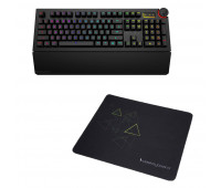 Das Keyboard 5Q Mechanical Keyboard: RGB-WIN-MAC-LINUX + Das Keyboard Triangle Mouse Pad