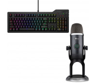 Das Keyboard Bundle with 4Q Mechanical Keyboard: MX-RGB-WIN-LINUX + Blue Mic Yeti x