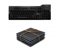 Das Keyboard Bundle With Model S Professional Mechanical Keyboard  + Das Keyboard 4-Piece Stone Coaster Set