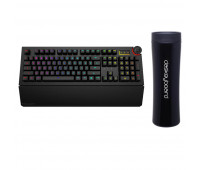 Das Keyboard Bundle With 5Q Mechanical Keyboard: RGB-WIN-MAC-LINUX + Das Keyboard Stainless Steel Tumbler