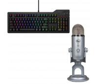 Das Keyboard Bundle with4Q Mechanical Keyboard: MX-RGB-WIN-LINUX + Blue Mic Yeti