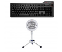 Das Keyboard Bundle with4 Professional Mechanical Keyboard  + Blue Mic Snowball