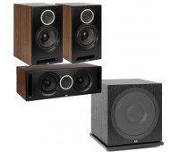 ELAC Debut Reference DBR62 Bookshelf Speakers 3.1 Channel Home Theater System Bundle With DCR52 and ELAC Subwoofer SUB3030