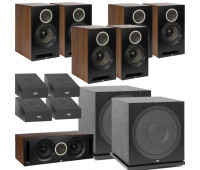 ELAC Debut Reference DB62 11.2 Channel Bookshelf Dolby Atmos Surround Sound Home Theater System with DA4.2 Atmos Speakers and Subwoofer SUB3030 - Black/Walnut