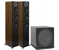 ELAC Debut Reference DFR52 Floorstanding Speakers - Pair - Black 2.1 Channel Home Theater System Bundle With ELAC Subwoofer SUB3030