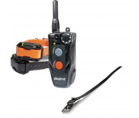 "Dogtra 202C Two-Dog Remote Trainer Bundle With Dogtra 3/4"" x 28"" Collar Strap - Black"
