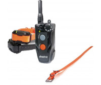 "Dogtra 202C Two-Dog Remote Trainer Bundle With Dogtra 3/4"" x 28"" Collar Strap - Orange"