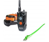 "Dogtra 202C Two-Dog Remote Trainer Bundle With Dogtra 3/4"" x 28"" Collar Strap - Green"