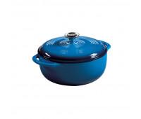 Lodge 4.5 Quart Blue Enameled Cast Iron Dutch Oven