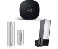 ecobee3 lite Smart Thermostat Bundle with Netatmo Weather Station, NWS01-US + Netatmo Presence, Smart Outdoor Security Camera