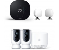 ecobee3 lite Smart Thermostat Bundle with Kasa Smart Wire-Free Camera System + ecobee Room Sensor 2 Pack with Stands