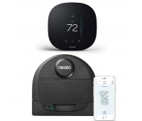ecobee3 lite Smart Thermostat Bundle with Neato Robotics D4 Connected Laser Guided Robot Vacuum Featuring No-Go Lines, Works with Amazon Alexa