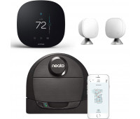 ecobee3 lite Smart Thermostat Bundle with Neato Robotics D6 Connected Laser Guided Smart Robot Vacuum + ecobee Room Sensor 2 Pack with Stands