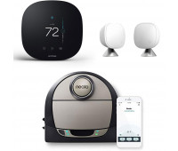 ecobee3 lite Smart Thermostat Bundle with Neato Robotics D7 Connected Laser Guided Robot Vacuum + ecobee Room Sensor 2 Pack with Stands