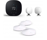 ecobee3 lite Smart Thermostat Bundle with TP-Link Deco Whole Home Mesh WiFi System + ecobee Room Sensor 2 Pack with Stands