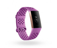 Fitbit - Charge 3 NFC Special Edition Fitness Tracker Rose Gold/Lavender Woven