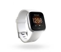 Fitbit - Versa Lite Smartwatch White/Silver Aluminum