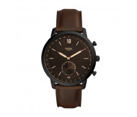 Fossil Men's Hybrid Smartwatch Neutra Whiskey Leather