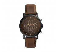 Fossil Men's Hybrid Smartwatch HR Collider Dark Brown Leather