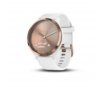 Garmin vivomove HR Sport, White/Rose Gold, S/M